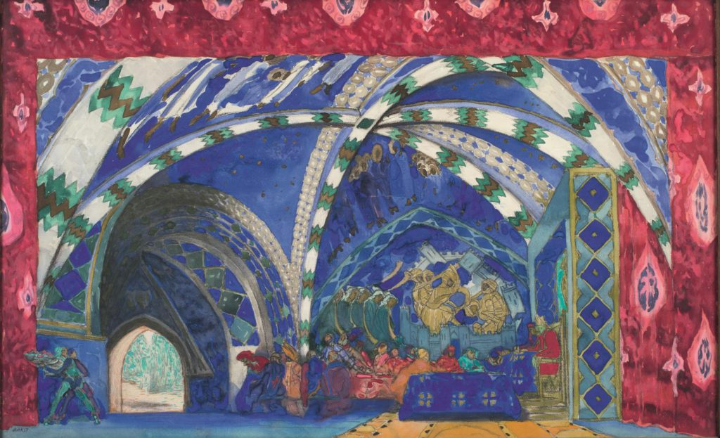 """5. Model of the décor for """"La Pisanelle ou La Mort parfumée"""", chor.: M.Fokine 1913 © BnF, département de la Musique, Bibliothèque-musée de l'Opéra"""