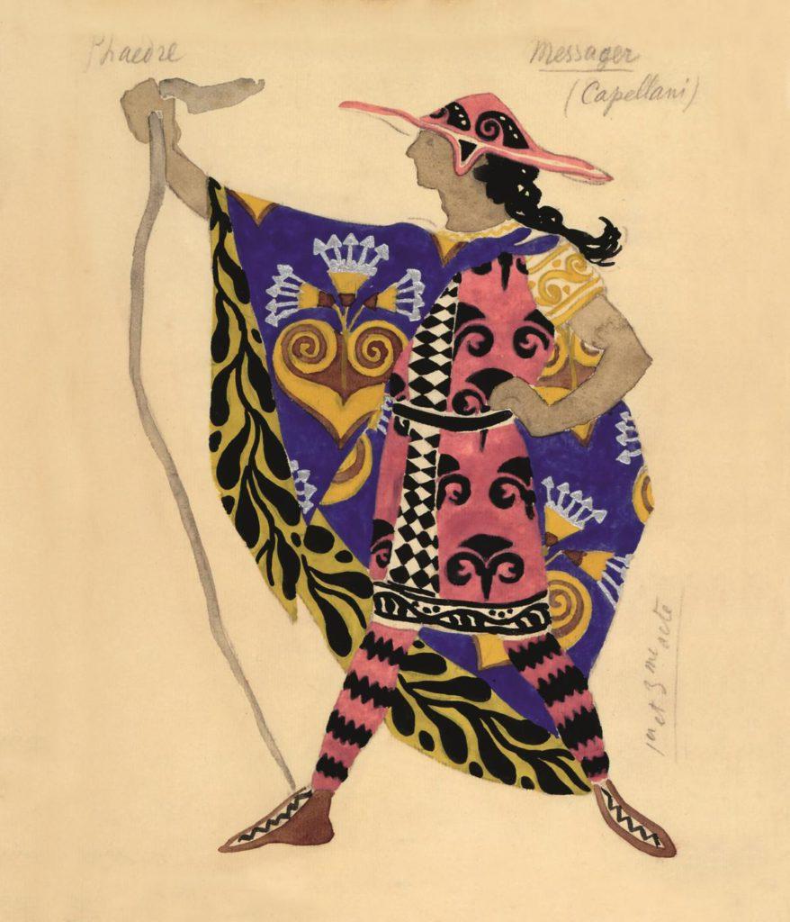 """3. Costume design for the bard Eurytos from """"Phaedre"""", chor.: I.Rubinstein 1923 © BnF, département de la Musique, Bibliothèque-musée de l'Opéra"""