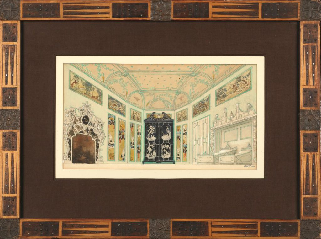 """9. Model of the décor for """"La Nuit Ensorcelée"""", chor.: L.Staats 1923 © BnF, département de la Musique, Bibliothèque-musée de l'Opéra"""