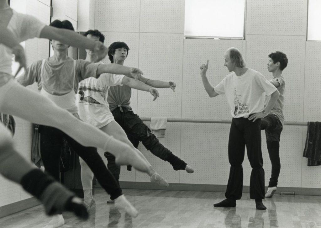 10. B.Akimov teaching dancers of the Asami Maki Ballet Tokyo in 1990 © Y.Yamahiro