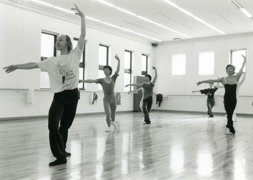11. B.Akimov teaching dancers of the Asami Maki Ballet Tokyo in 1990 © Y.Yamahiro