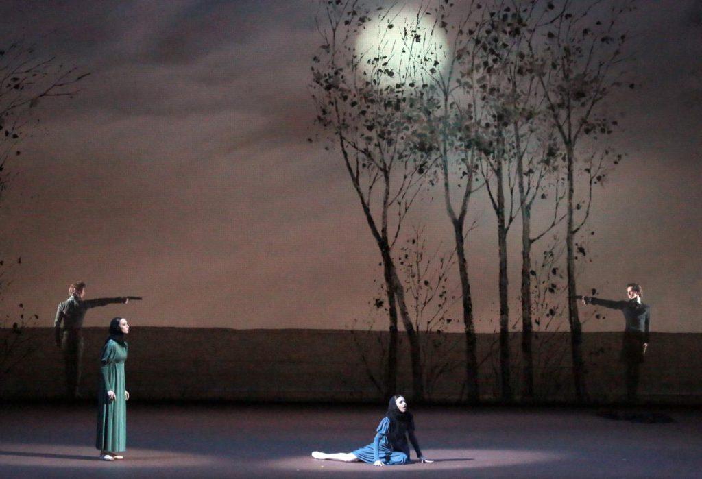 "7. S.Chudin, O.Smirnova, A.Tikhomirova and V.Lantratov, ""Onegin"" by J.Cranko, Bolshoi Ballet © Bolshoi Theatre / D.Yusupov"