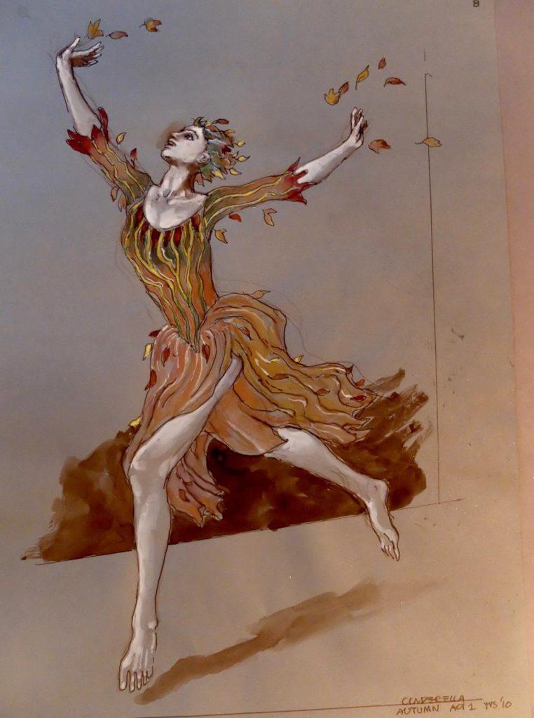 """36. Costume for """"Cinderella"""" by T.van Schayk © M.-J.van Hövell tot Westerflier"""