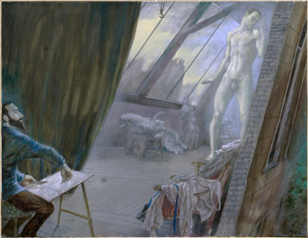 "31. ""Nijinsky posing for Aristide Maillol"" by T.van Schayk © M.-J.van Hövell tot Westerflier"