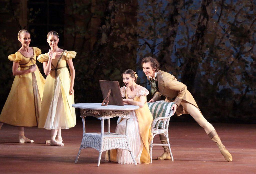 "1. A.Tikhomirova, S.Chudin and ensemble, ""Onegin"" by J.Cranko, Bolshoi Ballet © Bolshoi Theatre / D.Yusupov"
