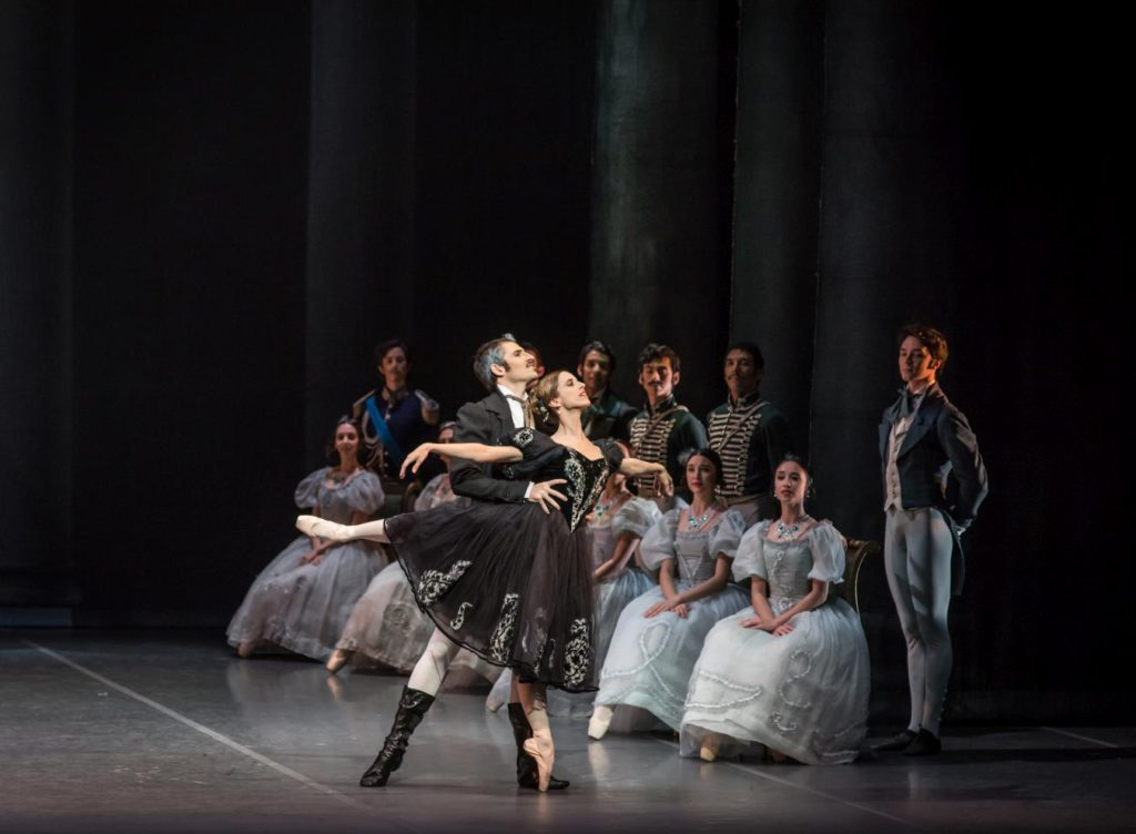 "7. E.Clavero, M.Riccetto and ensemble, ""Onegin"" by J.Cranko, National Ballet of Uruguay © National Ballet of Uruguay"