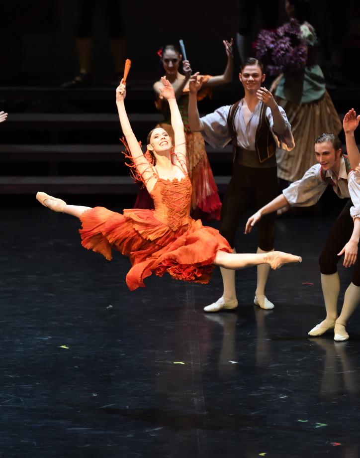 """3. E.Badenes and ensemble, """"Don Quixote"""" by M.Guerra, Stuttgart Ballet 2017 © Stuttgart Ballet"""