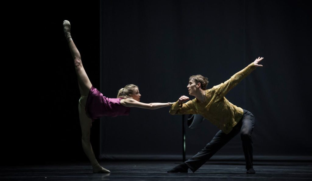 "9. M.Willems and D.Mulligan, ""Quintett"" by W.Forsythe, Ballet Zurich 2017 © C.Quezada"