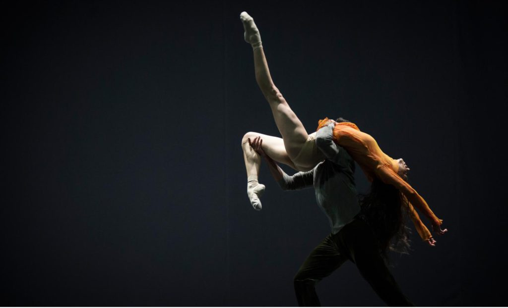 "15. T.Mkrtchyan and A.Khamzina, ""Quintett"" by W.Forsythe, Ballet Zurich 2017 © C.Quezada"