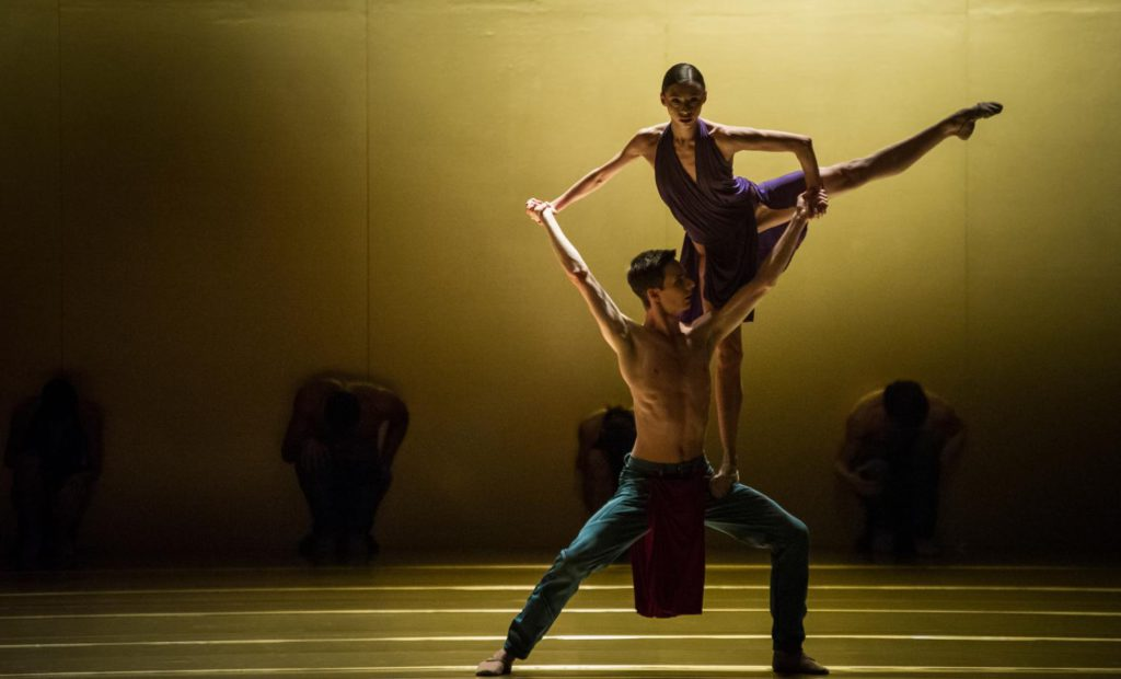 """2. A.Khamzina and J.Casier, """"rituals from another when"""" by J.Godani, Ballet Zurich 2017 © C.Quezada"""