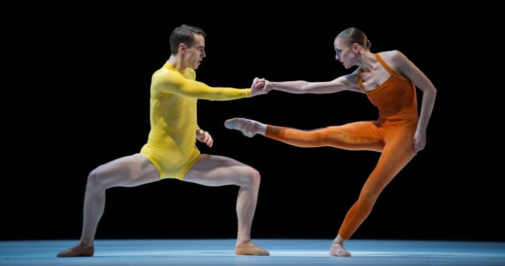 """6. D.Mulligan and M.Borel, """"Kammerballett"""" by H.van Manen, Ballet Zurich 2017 © C.Quezada"""