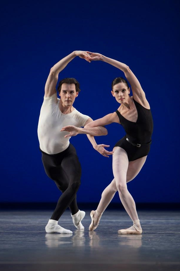 "34. J.Varga and I.de Jongh, ""Agon"" by G.Balanchine, Dutch National Ballet © A.Sterling"