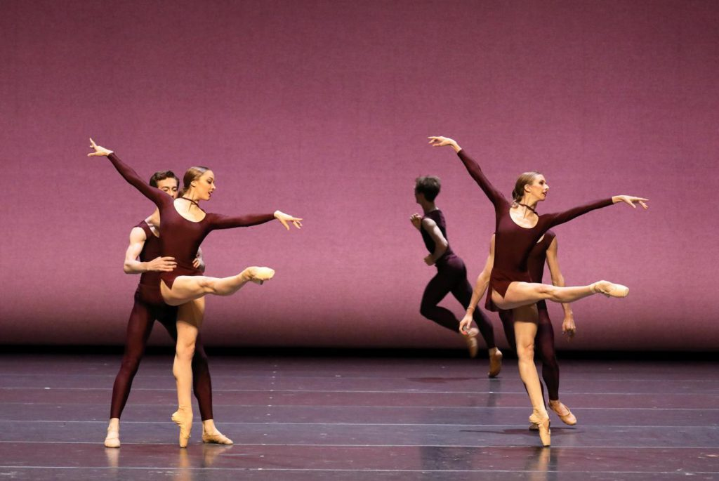 "12. D.Vyskubenko, P.Zeisel, K.Lind, A.Popov and ensemble, ""Marimba Dances"" by A.Pimonov, Bavarian State Ballet 2017 © W.Hösl"