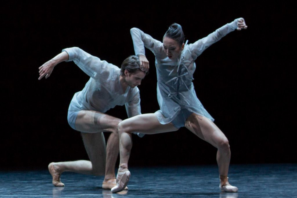 "11. R.Jones and A.Morgenstern, ""Andante Sostenuto"" by B.Randzio, Ballett am Rhein © G.Weigelt"