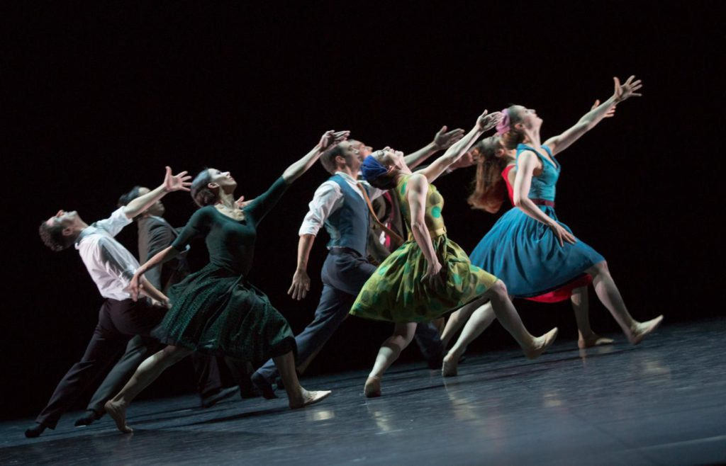 "21. Ensemble, ""East Coasting"" by M.Foster, Ballett am Rhein © G.Weigelt"
