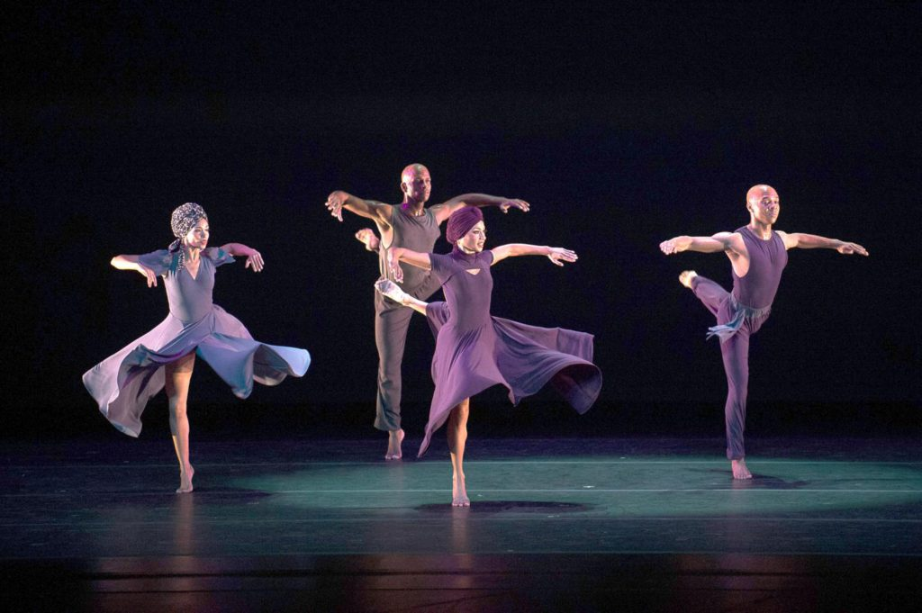 "2. B.Pereyra, G.A.Sims, L.C.Sims and M.Rushing, ""Four Corners"" by R.K. Brown, Alvin Ailey American Dance Theater © C.Duggan"