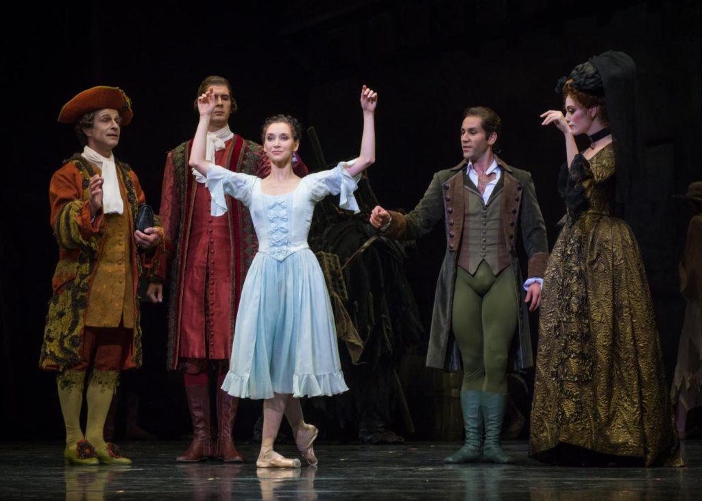 "1. R.Arndt, M.Madar, A.Ol, J.Vallejo and A.Gibson, ""Manon"" by K.MacMillan, Semperoper Ballet 2017 © I.Whalen"