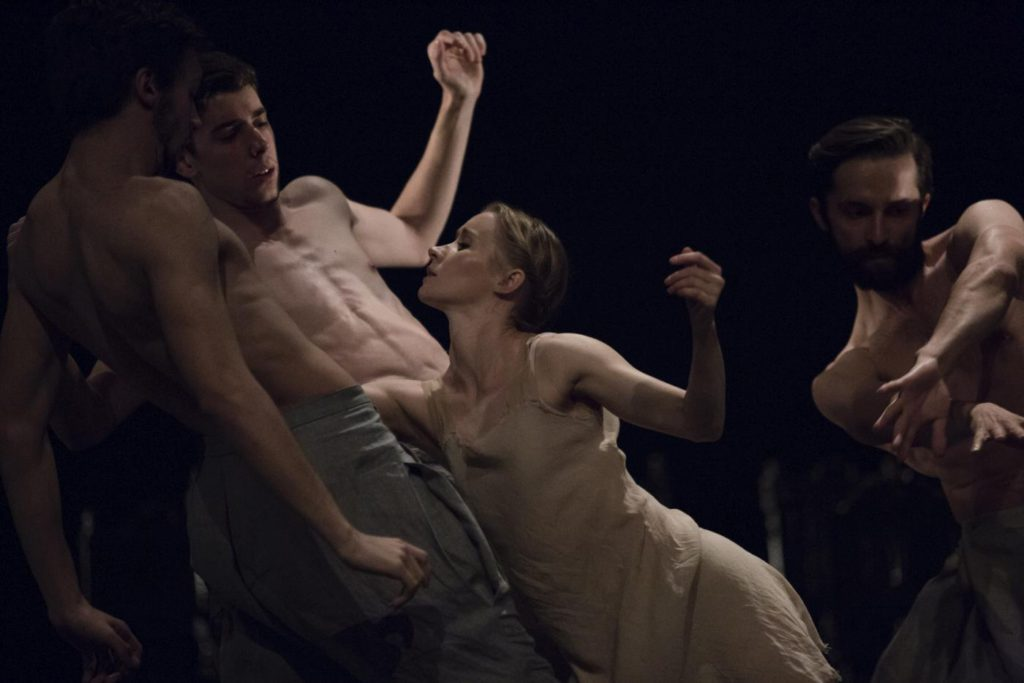 "3. E.Nowak, M.Esposito, G.Melfi and V.Kezik, ""Darkness"" by I.Weiss, Polish National Ballet 2017 © Polish National Ballet / E.Krasucka"