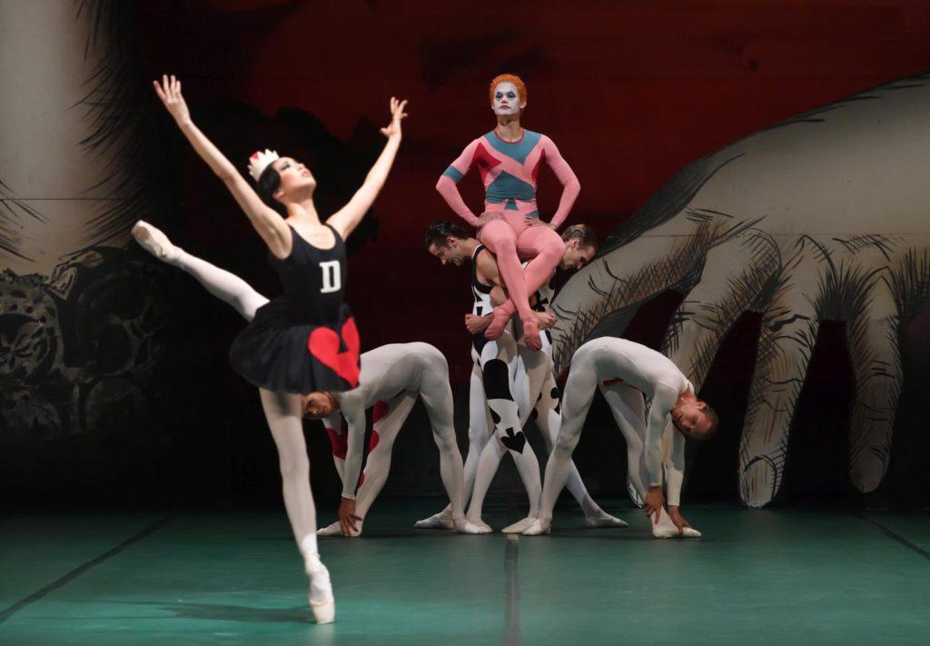 "9. A.Morita, A.Soares da Silva and ensemble, ""Jeu de Cartes"" by J.Cranko, Stuttgart Ballet 2017 © Stuttgart Ballet"