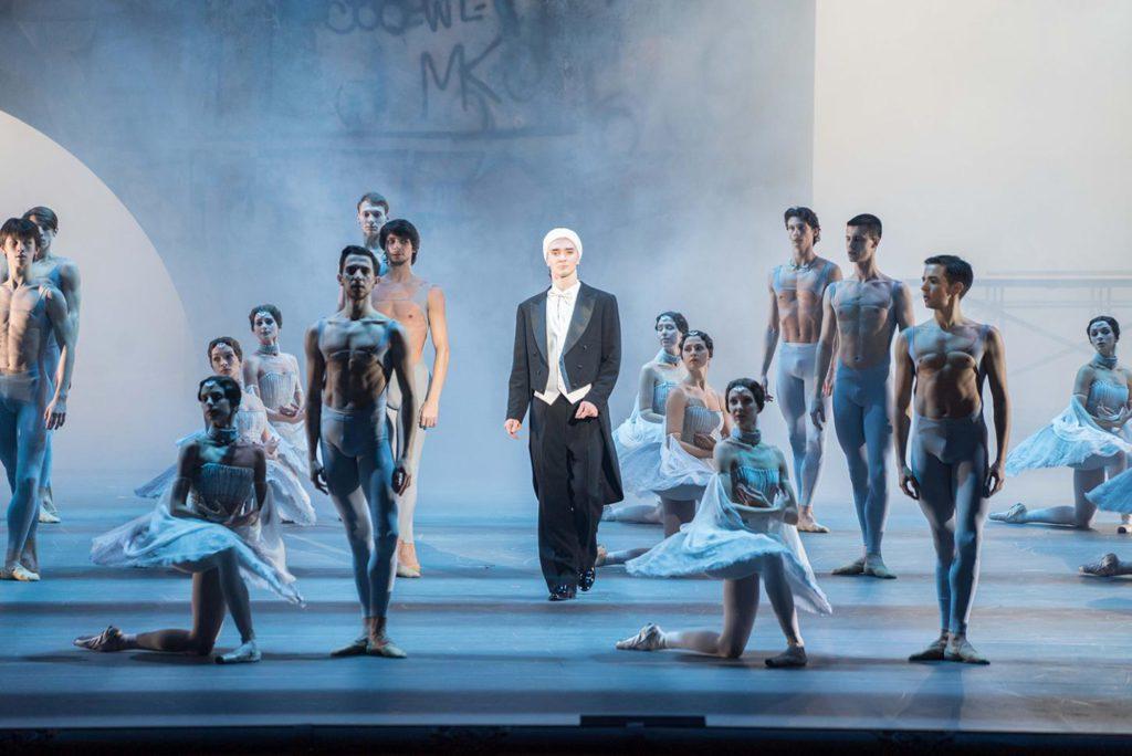 """12. V.Lantratov and ensemble, """"Nureyev"""", chor.: Y.Possokhov, dir.: K.Serebrennikov, Bolshoi Ballet 2017 © Bolshoi Ballet / P.Rychkov"""