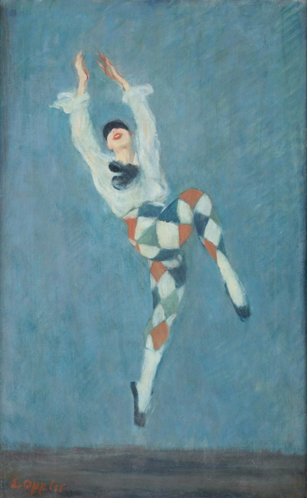 "3. V.Nijinsky in ""Carnaval"", chor.: M.Fokine; Painting by E.Oppler around 1922 © German Dance Archive Cologne"