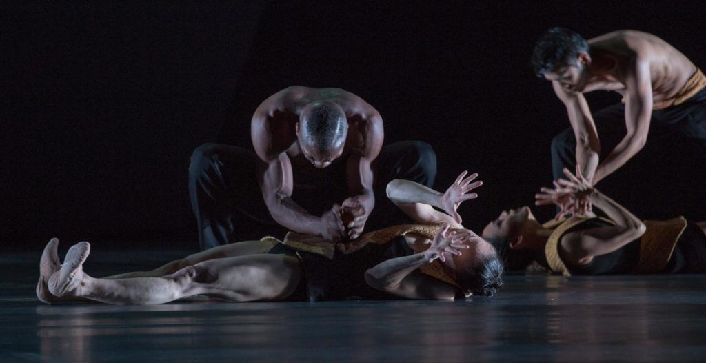 "15. C.Nzerem, Y.Kato, S.-Y.Kim and S.Locsin, ""Roses of Shadow"" by M.Schläpfer, Ballett am Rhein 2018 © G.Weigelt"