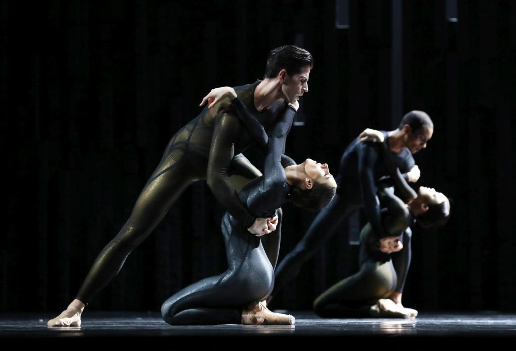 "5. F.Eimers, D.Elia, N.Brhane and R.Sakamoto, ""Requiem"" by D.Dawson, Dutch National Ballet 2019 © H.Gerritsen"