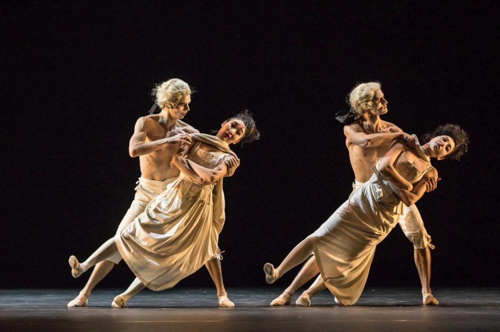 "15. M.Geilings, M.Maeda, D.Slavkovský and A.Soleti, ""Sechs Tänze"" by J.Kylán, Ballet Zurich 2019 © G.Bartadon"