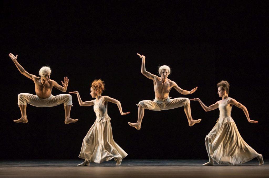 """16. G.Chalub, N.Warzabluk, G.Solan and C.Hammond, """"Sechs Tänze"""" by J.Kylán, Ballet Zurich 2019 © G.Bartadon"""