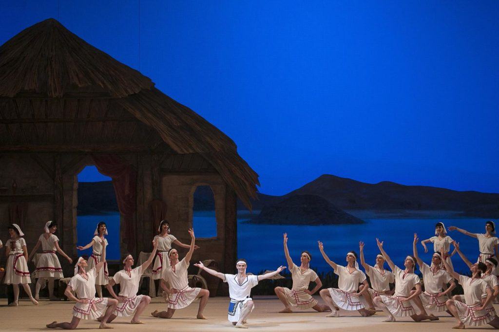 "9. M. Chino and ensemble, ""La Fille du Pharaon"" by P. Lacotte, Bolshoi Ballet 2019 © Bolshoi Ballet / D. Yusupov"