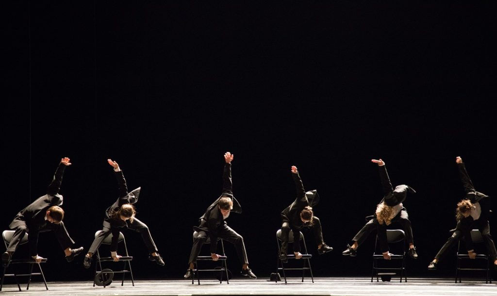 "8. Ensemble, ""Minus 16"" by O. Naharin, Stanislavsky and Nemirovich-Danchenko Moscow Music Theatre 2019 © K. Zhitkova"