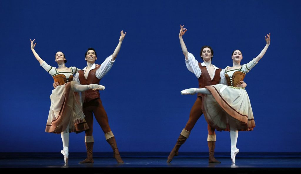 "1. N.Tonoli, S.Yamada, J.Spunda, and S.Leverashvili (Peasants), ""Giselle"" by M.Petipa after J.Coralli and J.Perrot, production and additional choreography by R.Beaujean and R.Bustamante, Dutch National Ballet 2021 © H.Gerritsen"