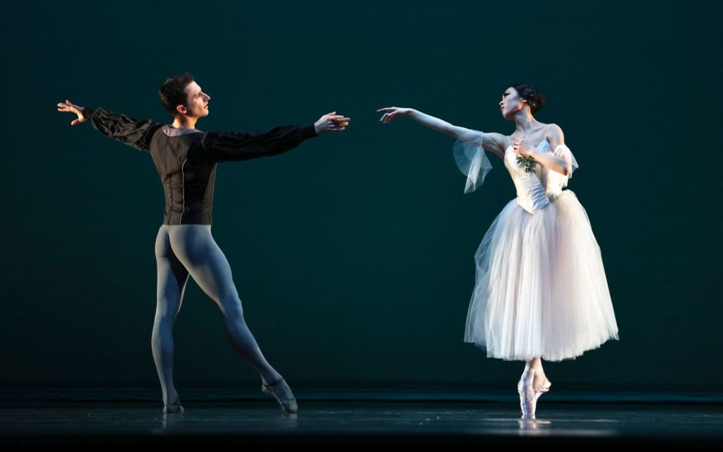 "2. S.Velichko (Count Albrecht) and Q.Liu (Giselle), ""Giselle"" by M.Petipa after J.Coralli and J.Perrot, production and additional choreography by R.Beaujean and R.Bustamante, Dutch National Ballet 2021 © H.Gerritsen"