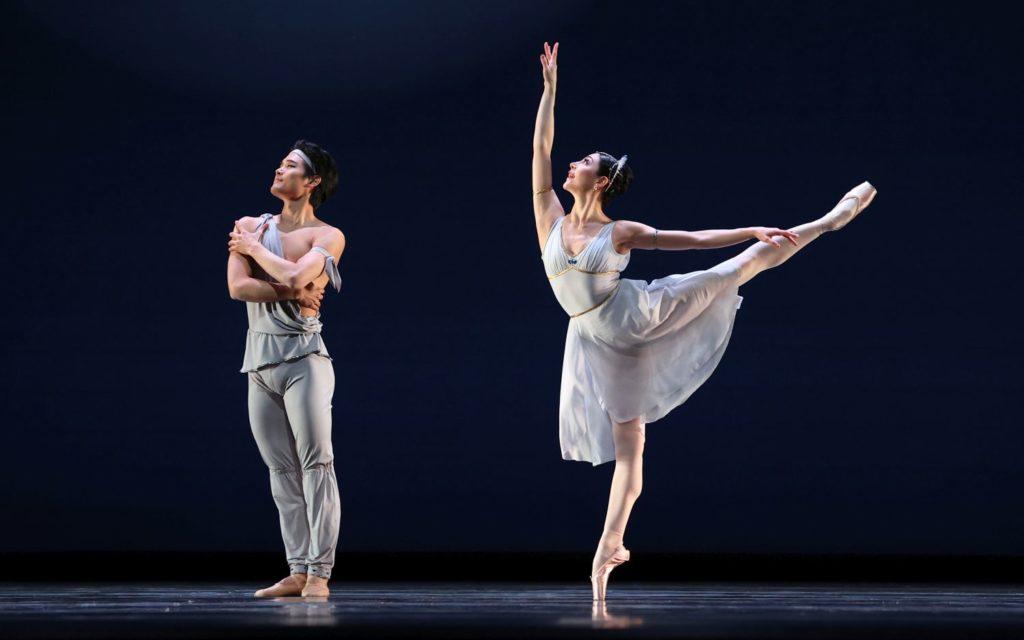 """16. Y.Gyu Choi (Noureddin) and M.Makhateli (Niriti), """"Talisman Pas de Deux"""" by P.Gusev, Dutch National Ballet 2021 © H.Gerritsen"""