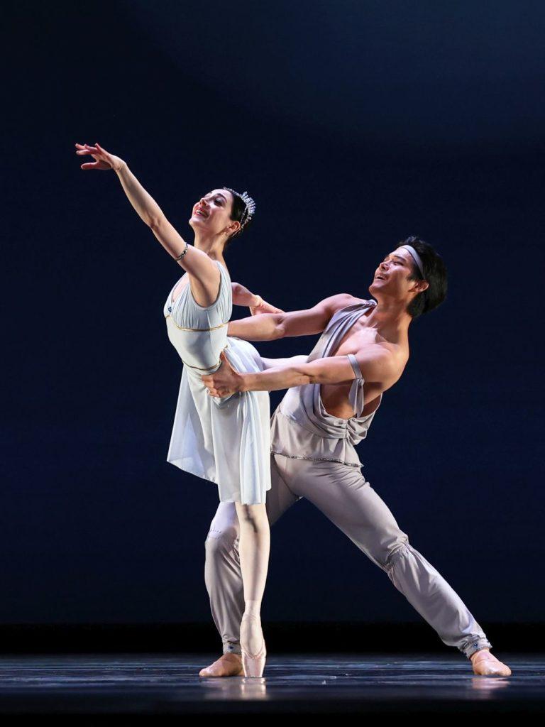 """15. M.Makhateli (Niriti) and Y.Gyu Choi (Noureddin), """"Talisman Pas de Deux"""" by P.Gusev, Dutch National Ballet 2021 © H.Gerritsen"""