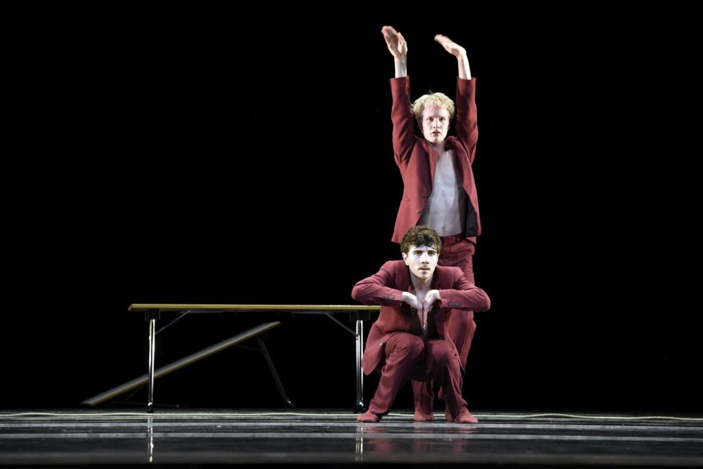 """12. V.Ketelslegers and M.García, """"You know, it's like..."""" by M.García, V.Ketelslegers, and A.Tavares; Ballet of the State Theater Nuremberg 2021 © B.Stöß"""