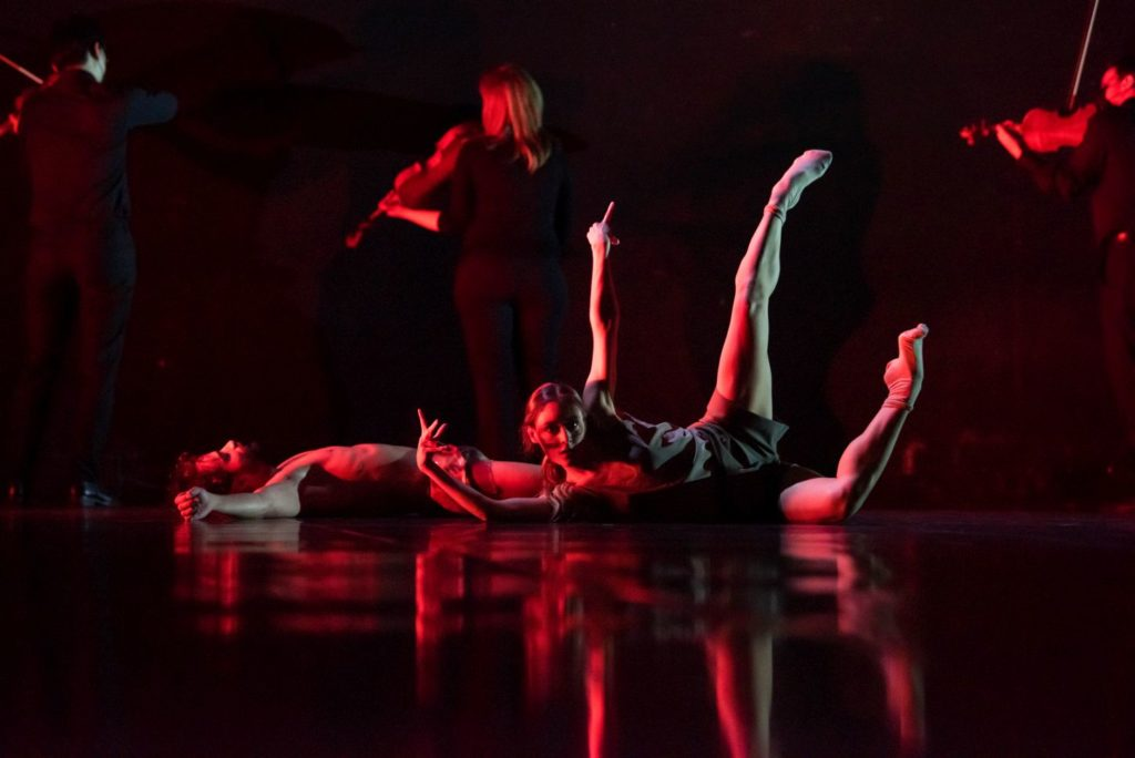 """2. L.Kalbusch and A.Uzunova, """"Verklärte Nacht"""" (""""Transfigured Night"""") by M.Rademaker, Ballet Dortmund 2021 © L.Januszewski"""