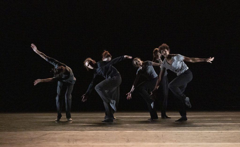 "1. J.Junker, I.Lubach, F.Serrano, I.Gasparini, K.McNally, and T.Dubreuil, ""The Morning Routine"" by J.Junker, The Royal Ballet 2021 © A.Uspenski"