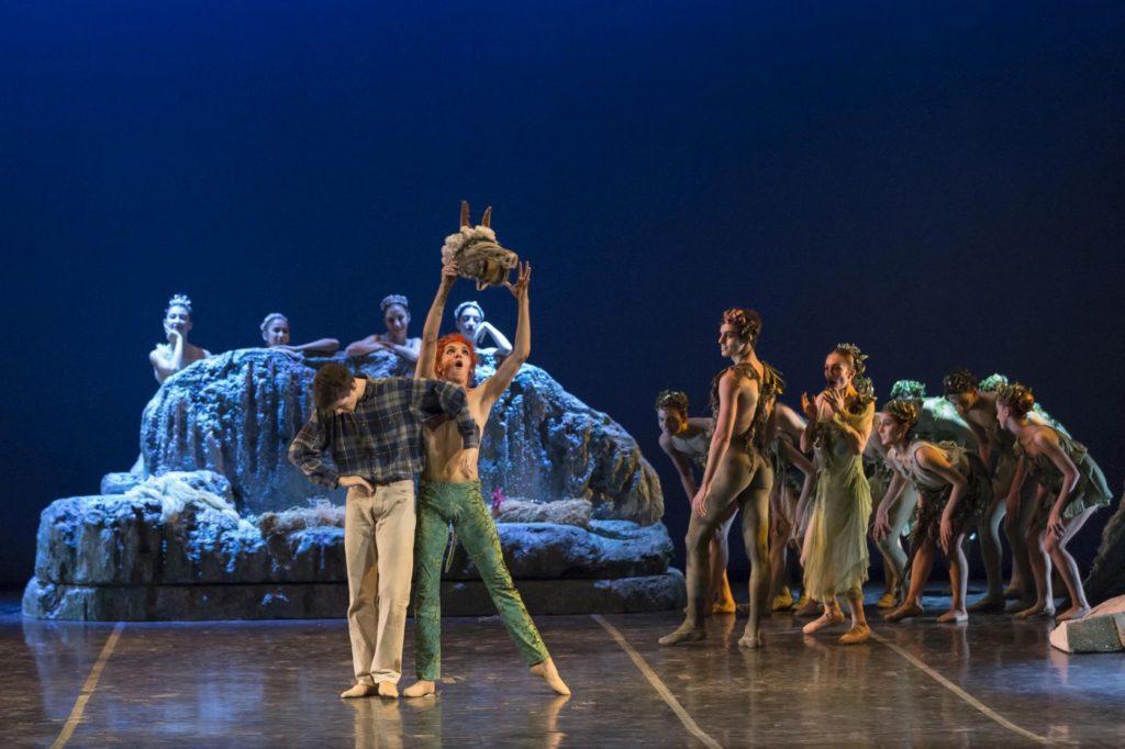 """2. V.Marisca (Bottom), A.Vinci (Puck), G.Starace (Oberon), C.Onesti (Titania), and ensemble, """"A Midsummer Night's Dream"""" by A.Delle Monache, Teatro dell'Opera di Roma Ballet School 2014 © Y.Kageyama"""