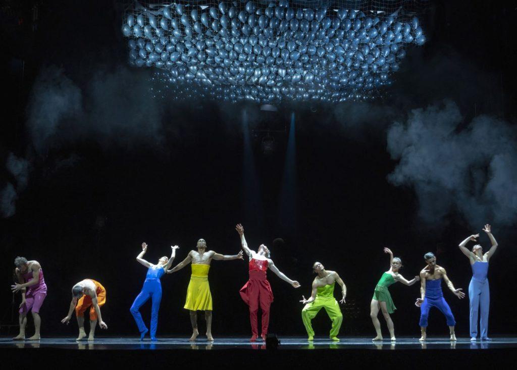 "9. E.Nunes, O.Alonso, S.Vervaecke, C.Blanco, V.Ketelslegers, A.Fernández, A.Tavares, J.Toscano, and S.Tozzi, ""Blitirí"" by G.Montero, Ballet of the State Theater Nuremberg 2021 © J.Vallinas"
