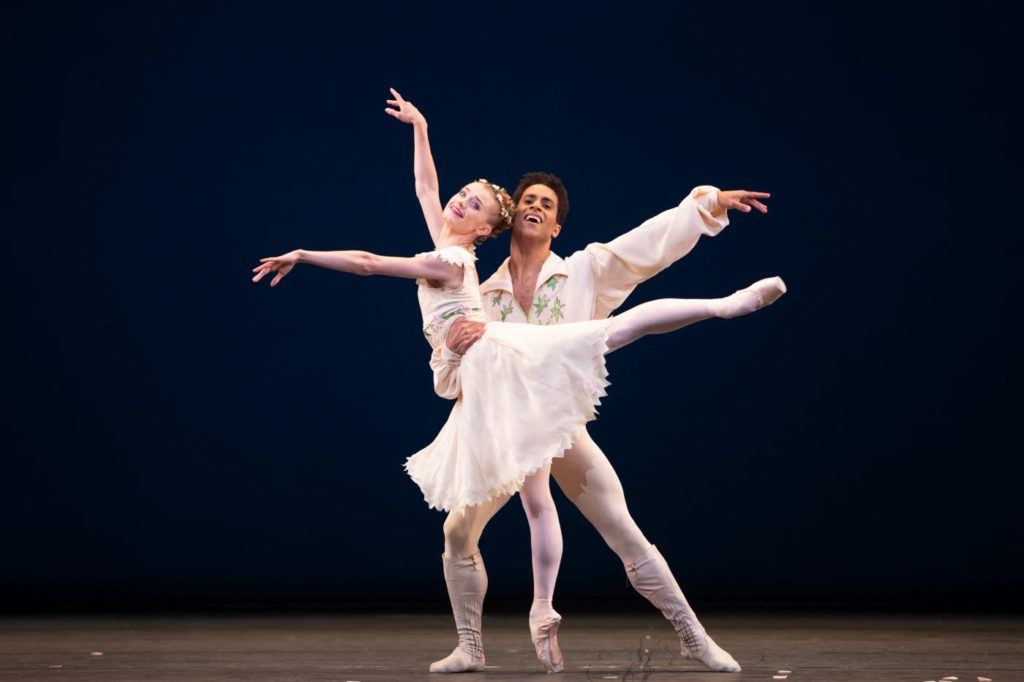 """7. A.R.O'Sullivan and M.Sambé, """"Voices of Spring"""" by F.Ashton, The Royal Ballet 2021 © A.Pennefather"""